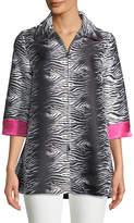 Berek Zebra-Print Topper Jacket