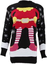 Universal Textiles Womens/Ladies Knitted Elf Design Christmas Jumper