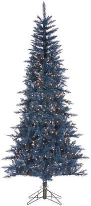 Sterling Tree Company 7.5Ft Tinsel Pre-Lit Tree In Dark Blue