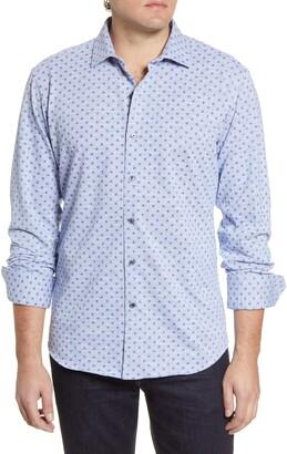 Bugatchi Regular Fit Knit Button-Up Shirt