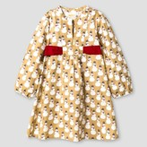 Happy by Pink Chicken Toddler and Girls' Happy by Pink Chicken Snowman Apron Dress - Khaki