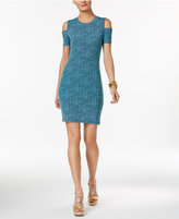 MICHAEL Michael Kors Printed Cold-Shoulder Sheath Dress