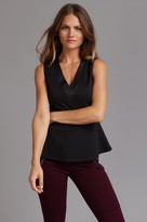 Dynamite Peplum Top with Faux Leather