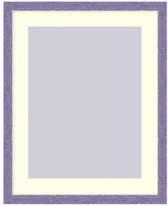 Frames By Mail Wall Picture Frame Hammered Purple pearlized finish w/ a white acid-fr