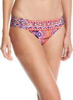 LaBlanca La Blanca Global Side-Shirred Swim Bottoms, Multipattern