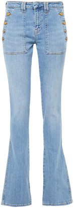 Victoria Victoria Beckham Faded Mid-rise Flared Jeans