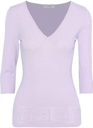 Versace Pointelle-knit Top