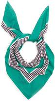 Burberry Polka-dot print cotton scarf