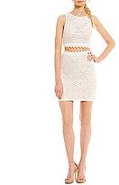 Jodi Kristopher Lace Two-Piece Shift Dress