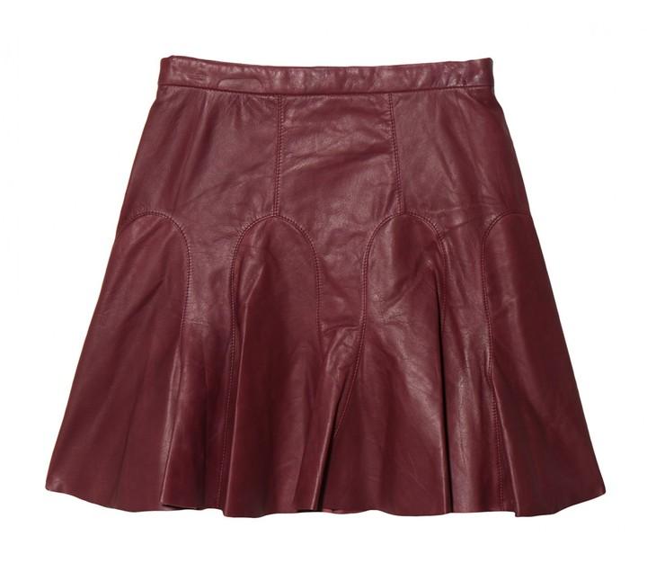Derek Lam 10 Crosby Tulip Leather Skirt