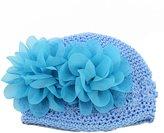 MENGDA Infant Toddler Girl Baby Handmade Knit Crochet Flower Hat Cap