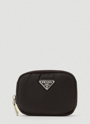 Prada Triangle Logo Zipped Wallet