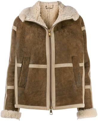 Neil Barrett shearling lining leather jacket