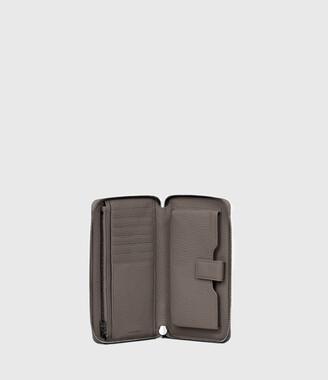 AllSaints Fetch Phone Leather Wristlet