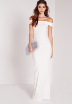 Missguided Bardot Maxi Dress White