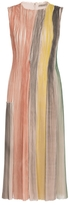 Bottega Veneta Sleeveless Pleat Midi Dress
