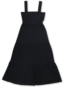 INC International Concepts Inc Tiered Denim Maxi Dress, Created for Macy's
