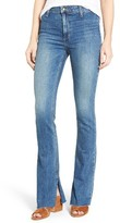 Joe's Jeans Women's Micro Open Flare Raw Hem Jeans