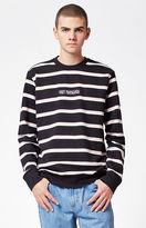 Obey St. Clair Striped Crew Neck Sweatshirt