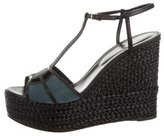 Sergio Rossi Puzzle Wedge Sandals w/ Tags