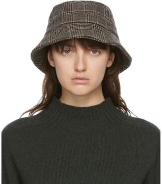 YMC Brown Wool Bucket Hat