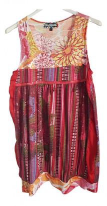 Desigual Red Cotton - elasthane Dresses