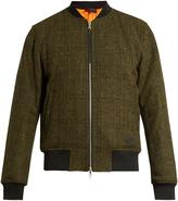 Rag & Bone Manston reversible wool-tweed bomber jacket