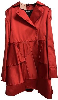 Miu Miu Red Silk Coat for Women