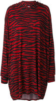 MM6 MAISON MARGIELA zebra print hooded dress - women - Spandex/Elastane/Viscose - XS