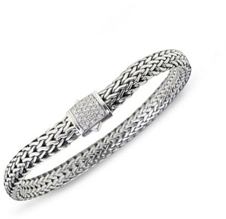 John Hardy Classic Chain Diamond & Sterling Silver Small Bracelet