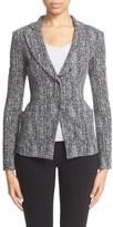 Armani Collezioni Herringbone Jacquard Jacket