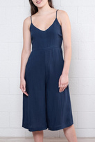 Everly Navy Sleeveless Jumpsuit