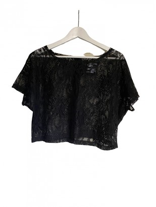 Just Female Black Lace Top for Women