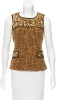 Anna Sui Embellished Tweed Top