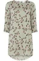 Dorothy Perkins Womens **Vila Leopard Print 3/4 Sleeve Tunic- Leopard
