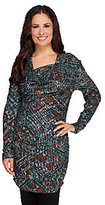 Walter View by Baker Snake Print Drape Neck Knit Tunic