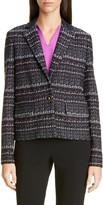 St. John Texture Boucle Tweed Short Jacket