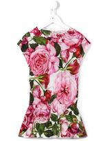 Dolce & Gabbana rose print dress - kids - Cotton - 10 yrs