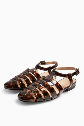 Topshop OLIVE Tortoiseshell Fisherman Shoes
