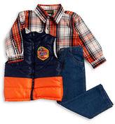 Nannette Boys 2-7 Puffer Vest, Sportshirt and Jeans Set