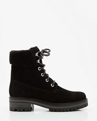 Le Château Faux Fur Nubuck Leather Ankle Boot