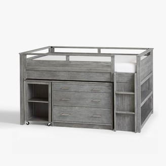 Pottery Barn Teen Sleep & Study Low Loft Bed - Simply White