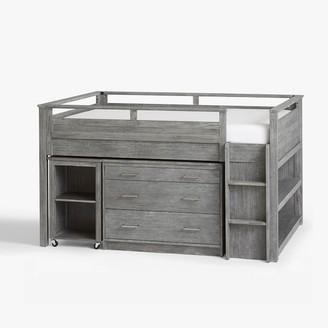 Pottery Barn Teen Sleep & Study Low Loft Bed - Simply White