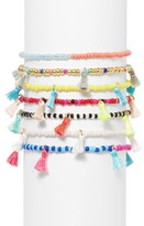 BaubleBar Women's Cali Set Of 7 Stretch Bracelets