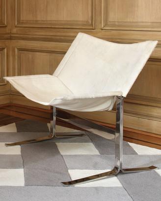 Global Views Cantilever Hair on Hide Chair