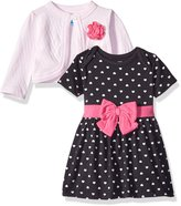 Bon Bebe Girls' 2 Piece Dress and Cardigan Set