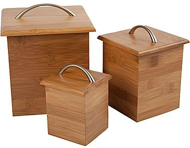 JCPenney Core BambooTM 3-pc. Canister Set