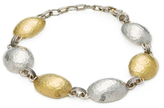 Gurhan 24K Yellow Gold & Sterling Silver Domed Lentil Bracelet