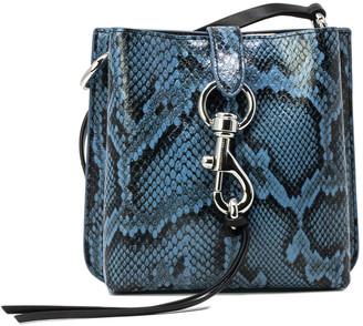Rebecca Minkoff Megan Mini Python Leather Feed Bag