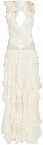 Matthew Williamson Beaded Deep V Gown